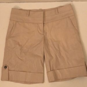 Bebe Nude Cream Elegant Shorts XS